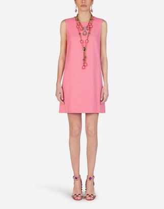 Dolce & Gabbana Short A-Line Dress In Cady