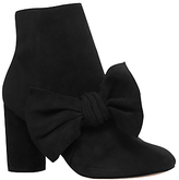 KG by Kurt Geiger Rattle Bow Ankle Boots, Black