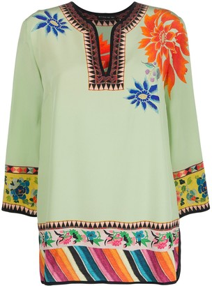 Etro Floral-Print Tunic Top