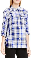 Vince Camuto Two by VINCE CAMTUO Plaid Roll Sleeve Shirt