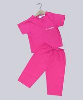 Princess Linens Pink Scrub Personalized Dress-Up Set - Infant & Toddler