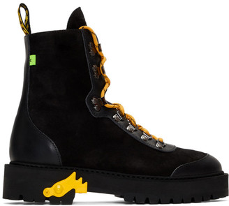 Off-White Black and Yellow Hiking Boots