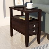 Andover Mills Gahagan End Table with Storage Color: Espresso