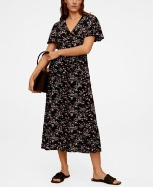 MANGO Women's Printed Long Dress