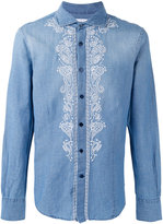 Ermanno Scervino embroidered panel buttoned shirt