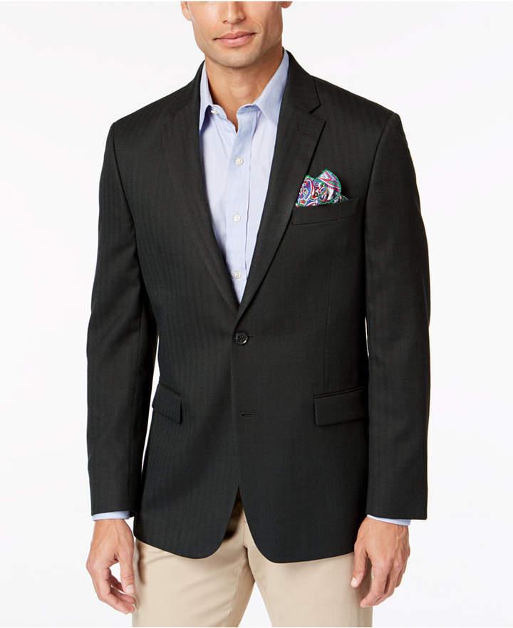 Tommy Hilfiger Men Modern-Fit Th Flex Stretch Herringbone Sport Coat