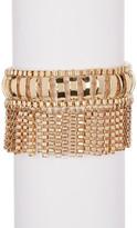 Trina Turk Box Chain Fringe Bracelet