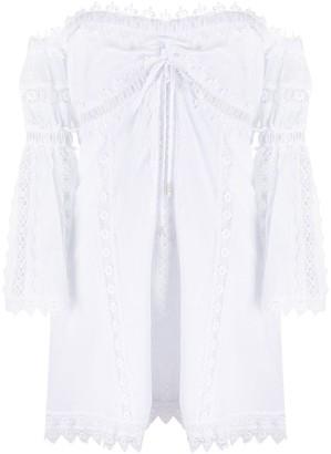 Charo Ruiz Ibiza Embroidered Off-The-Shoulder Dress