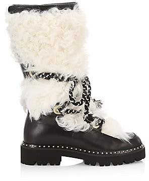 Montelliana 1965 Women's Mary Shearling-Trimmed Leather Mid-Calf Boots