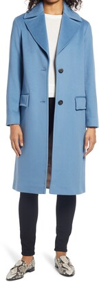 Fleurette Oversize Notch Collar Wool Coat