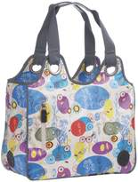 Lassig Oilcloth Cosmo Diaper Bag includes Changing Mat, Bottle Holder and Stroller Hooks, Multicolour