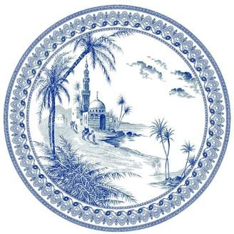 Gien Vue Orient Depareillees Bleu Dinner Plate (27.4Cm)