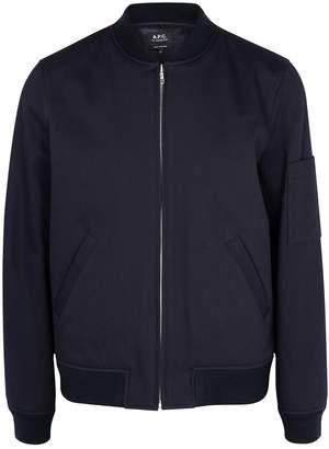 A.P.C. Navy Cotton Bomber Jacket
