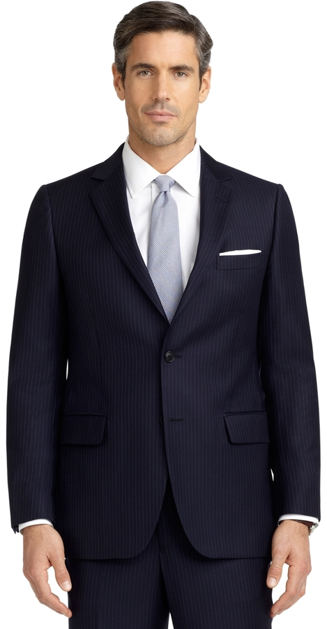 Brooks Brothers Fitzgerald Fit Alternating Mini Rope Stripe 1818 Suit