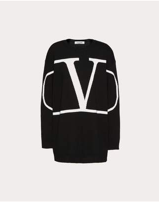 Valentino Vlogo Embroidered Cashmere Sweater