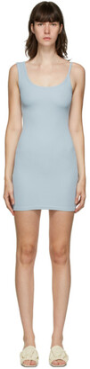 CHRISTOPHER ESBER SSENSE Exclusive Blue Asymmetric Strap Mini Dress