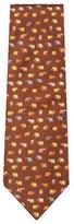Salvatore Ferragamo Animal Printed Tie