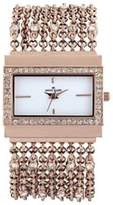 Anne Klein Women's 10-9706WTRG Rose-Gold Brass Quartz Watch with Dial
