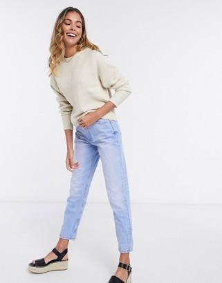 JDY murphy pullover knit top in beige