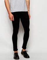 Religion Hero Super Skinny Washed Black Jeans - Black