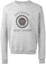 Saint Laurent printed motif sweatshirt - men - Cotton/Polyamide - XS