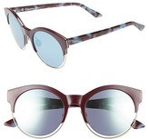 Christian Dior Women's 'Sideral 1' 53Mm Sunglasses - Black/ Blue