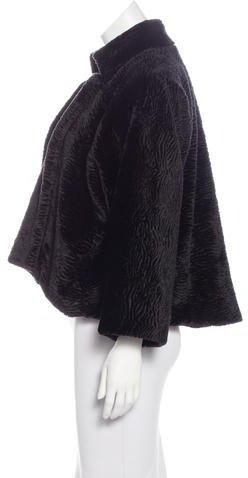 Tahari Vegan Fur Jacket