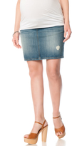 Motherhood Indigo Blue Half Belly 5 Pocket Maternity Skirt