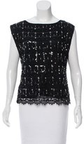 Alice + Olivia Sleeveless Embellished Top