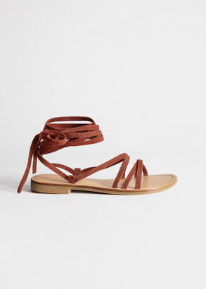 And other stories Criss Cross Suede Lace Up Sandals