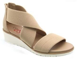 MIA AMORE Casandraa Cross Strap Wedge Sandal