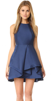 Halston High Neck Structured Dress