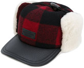 DSQUARED2 plaid shearling flap cap - men - Cotton/Calf Leather/Lamb Skin/Virgin Wool - S