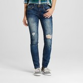 Dollhouse Women's Destructed Skinny Jeans Juniors')