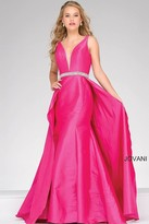 Jovani Long Embellished V Neck Prom Dress 42401