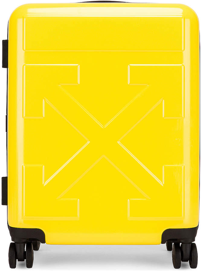 Off-White Off White Arrow Trolley Luggage in Yellow | FWRD