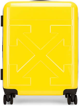 Off-White Off White Arrow Trolley Luggage in Yellow | FWRD