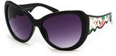 A. J. Morgan Black & Floral Tess Sunglasses