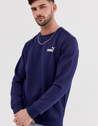 Puma Essentials sweat with small logo in navy
