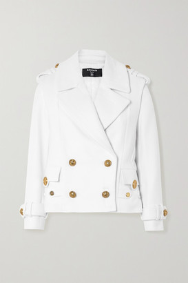 Balmain Double-breasted Wool And Cashmere-blend Jacket - White