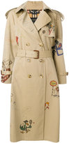 Burberry Sketch Print Tropical trench coat