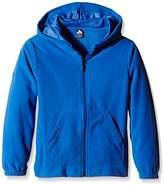 Trigema Girl's Fleece Hoody Hooded Jacket - Blue -