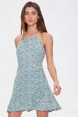 Forever 21 Ditsy Floral Halter Dress