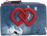 DSQUARED2 DD distressed denim wallet - women - Cotton/Calf Leather/Polyurethane - One Size