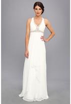 Faviana Beaded Cross Back Chiffon Dress 6916