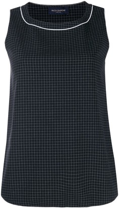 Piazza Sempione Checked Cropped Top