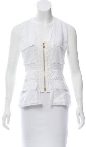 Alexandre Vauthier Sleeveless Zip-Up Top w/ Tags
