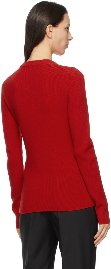 Thumbnail for your product : Givenchy Red Wool & Cashmere Chain Collar Sweater