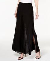 MSK Split Wide-Leg Dress Pants