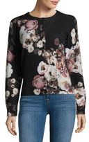 Lord & Taylor Regency Floral Printed Cashmere Cardigan